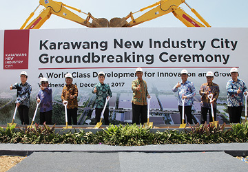KARAWANG NEW INDUSTRY CITYの起工式